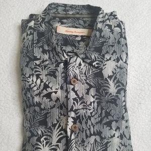 Tommy Bahama Gorgeous Black Hawaiian Camp Shirt M